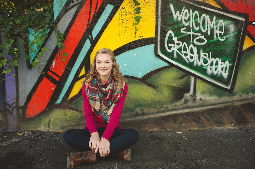 Photographers in Greensboro NC with senior girl
